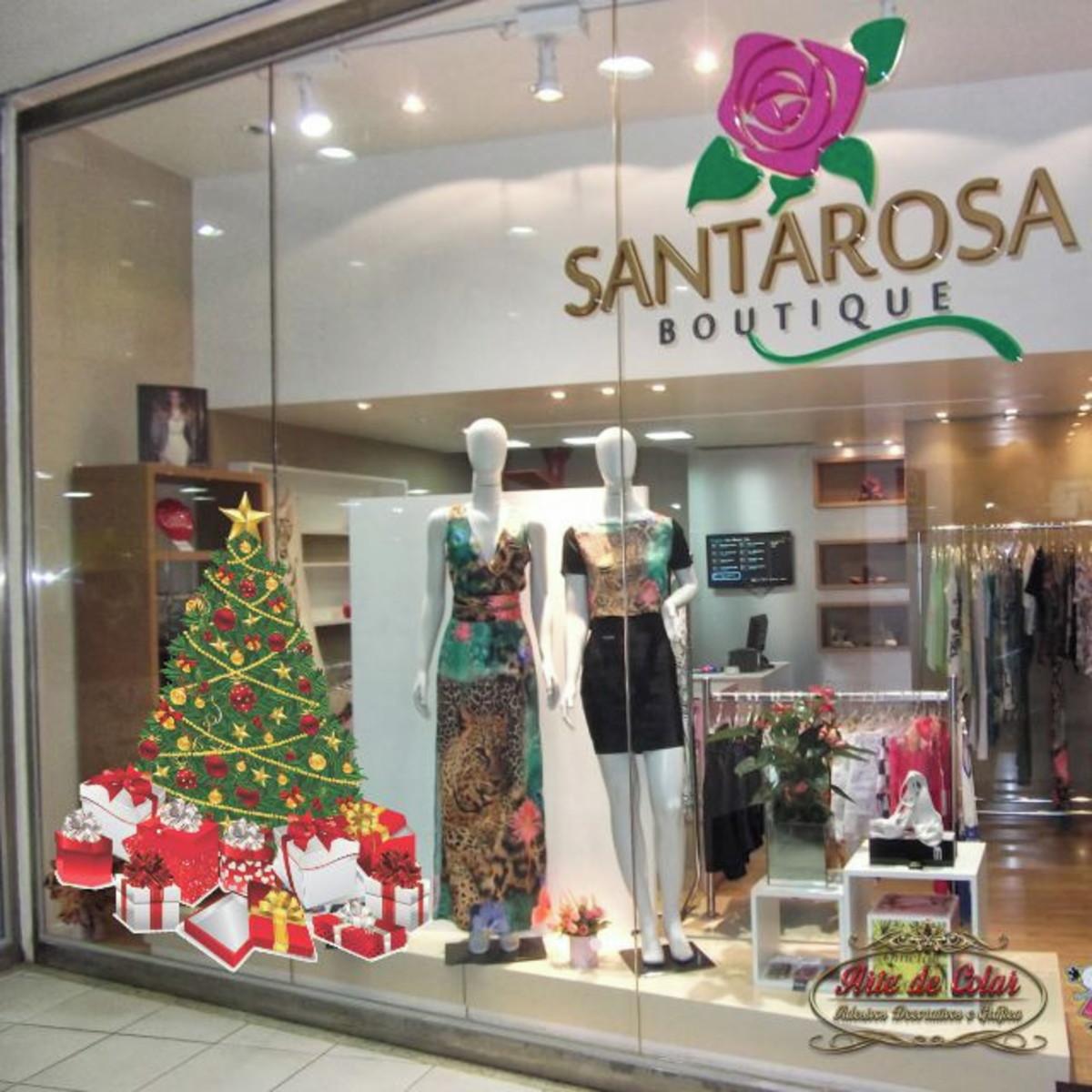 Arte E Artesanato Folclorico ~ Adesivo para VitrineÁrvore de Natal no Elo7 Arte de