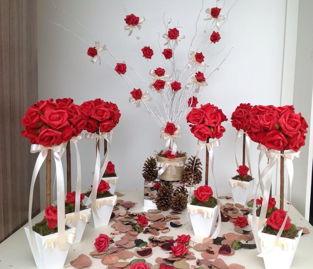 Festas > Centro de Mesa > Kit decoração vermelha para festa VII