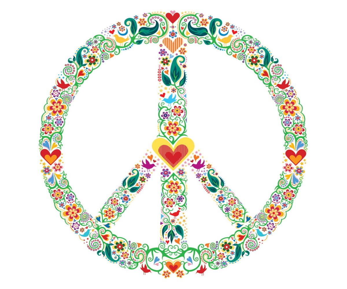 Adesivo Símbolo Da Paz Branco 20 Cm No Elo7