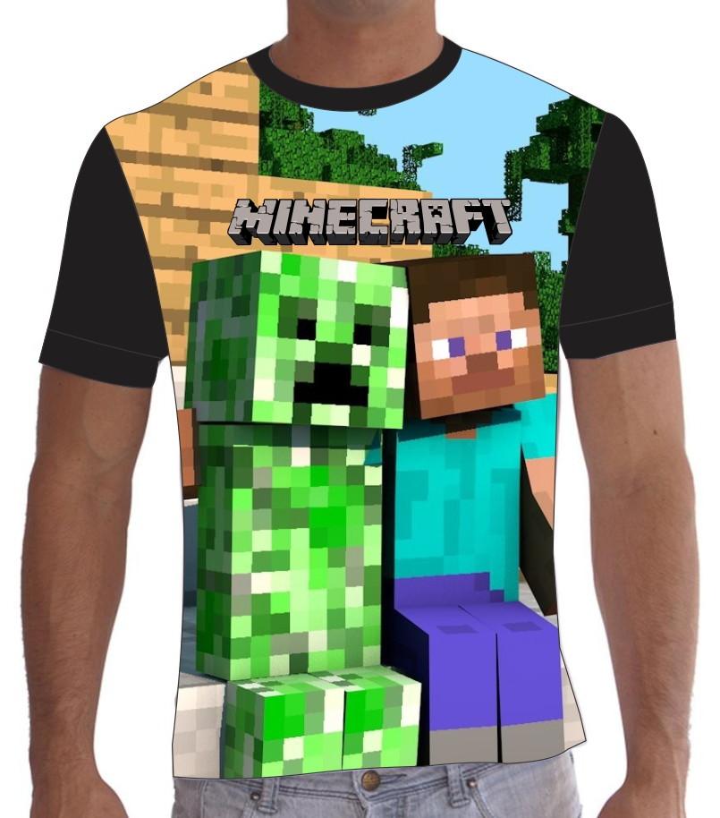 Camiseta camisa minecraft steve creeper no elo7 trends - Minecraft creeper and steve ...