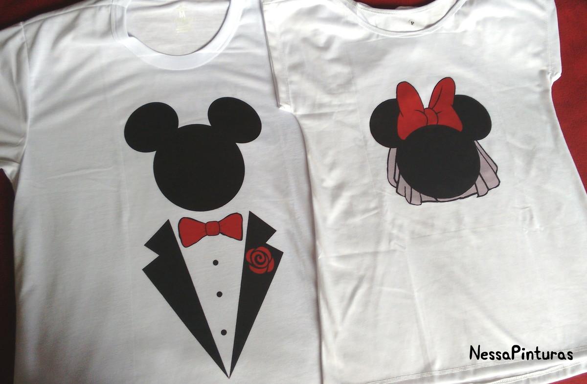 Desenho De Camisa: Kit Camisetas Mickey E Minnie Noivos No Elo7