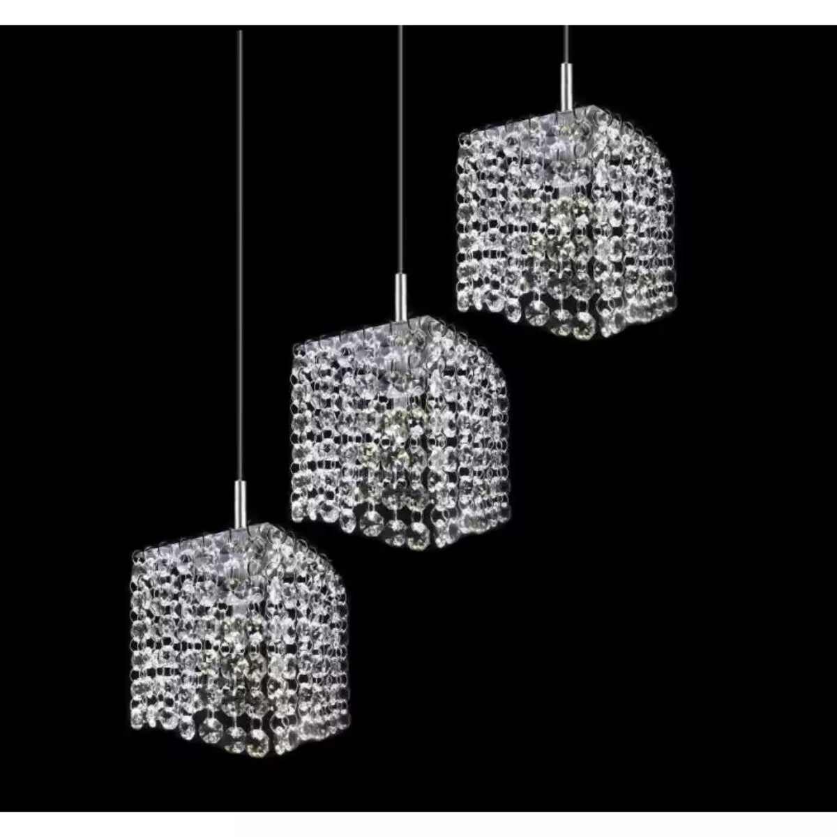 lustre plafon pendente de cristal cp design ilumina o. Black Bedroom Furniture Sets. Home Design Ideas