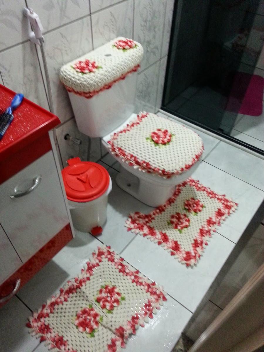 jogo de Banheiro  Danielle de Oliveira Favero  Elo7 # Jogo Pia De Banheiro