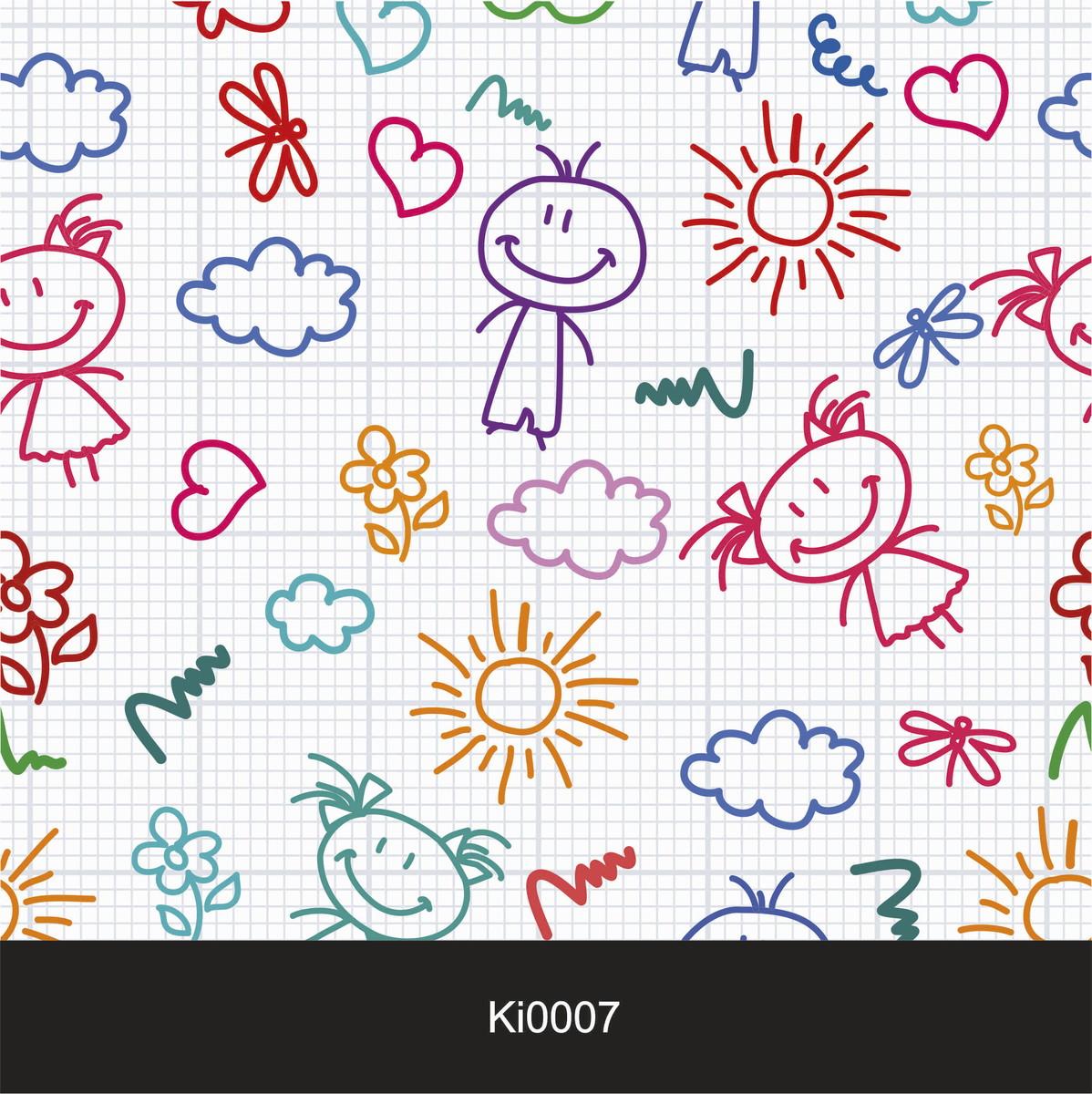 Papel de parede infantil ki0007 colando arte papel de for Papel vinilico infantil