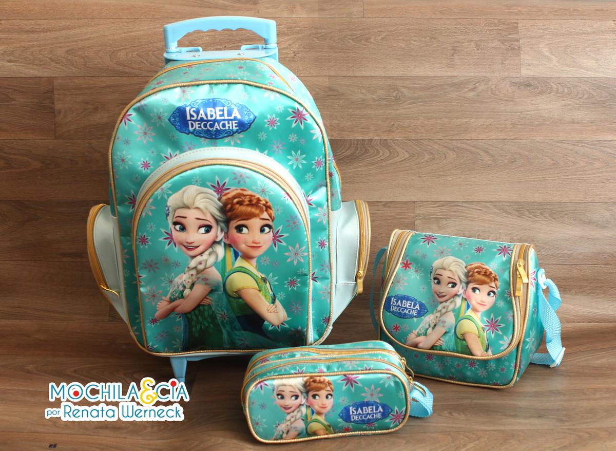 Bolsa Escolar Feminina Da Frozen : Kit mochila g escolar rodinha frozen fever e cia