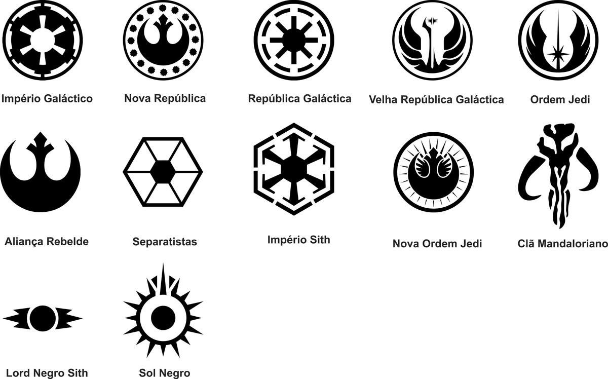 Adesivo Símbolo Da Paz Branco 20 Cm No Elo7: Adesivo Star Wars - Nova Ordem Jedi