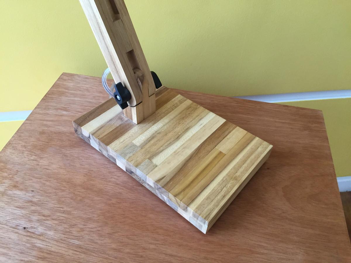 Kit 02 lumin ria articulada de mesa teca box unique elo7 - Mesa de teca ...