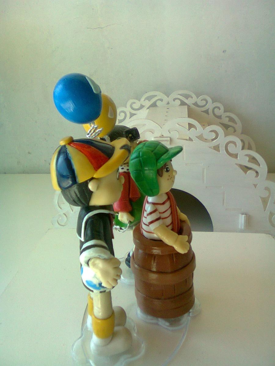chaves kiko e chiquinha decoracao de aniversario topo de bolo chaves