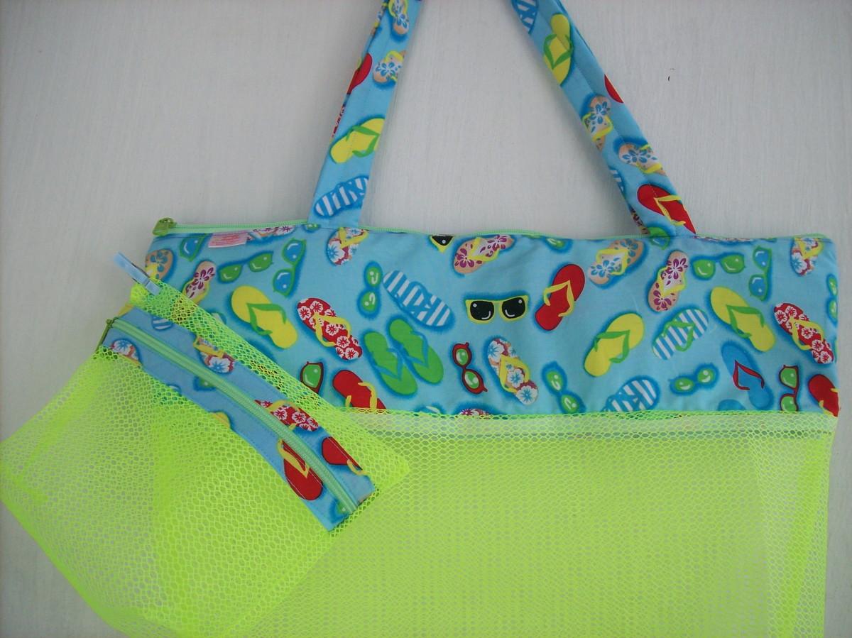 Bolsa de praia dianne pedrosa elo7 for Bolsa piscina