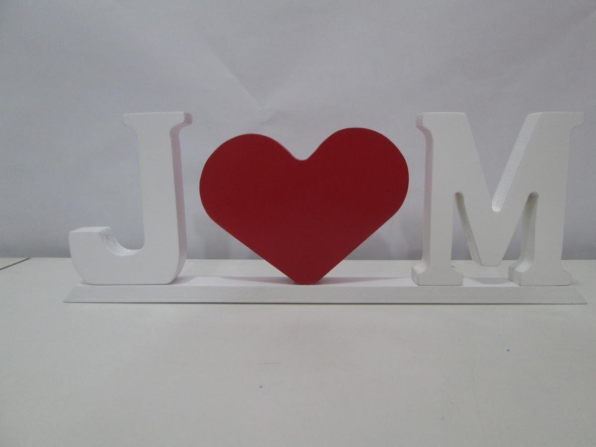 Letras decorativas em mdf drika artesanatos elo7 - Letras decorativas pared ...