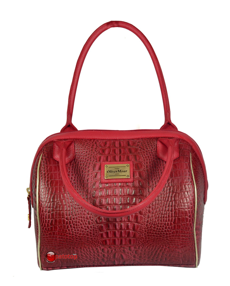 Bolsa De Couro Legitimo Vermelha : Bolsa vermelha em couro leg?timo sapatotop shoes elo