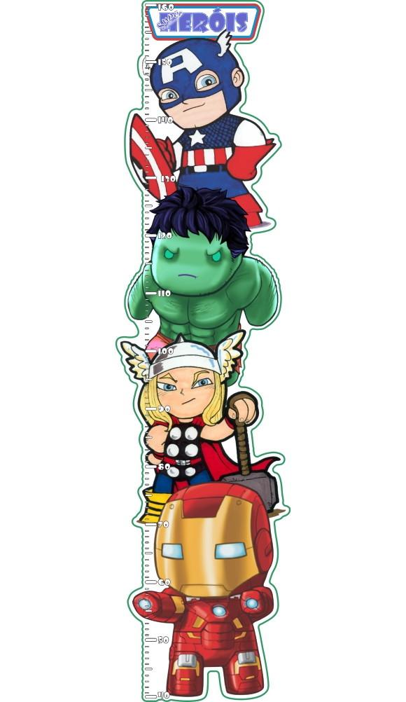 Artesanato Junino Em Feltro ~ Adesivo Régua Super Heróis Kids no Elo7 C3 Brasil Adesivos Decorativos (64182E)
