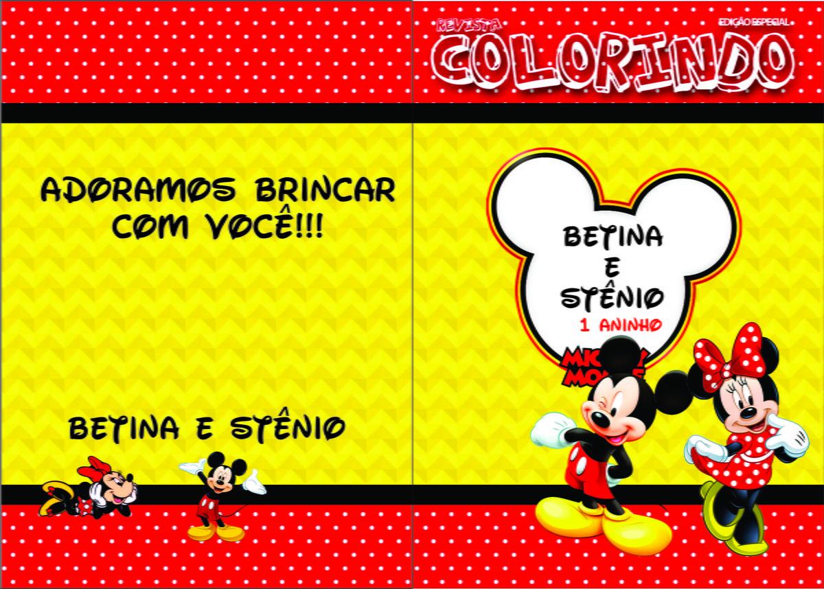 Revistinha Para Colorir - Minnie E Micke