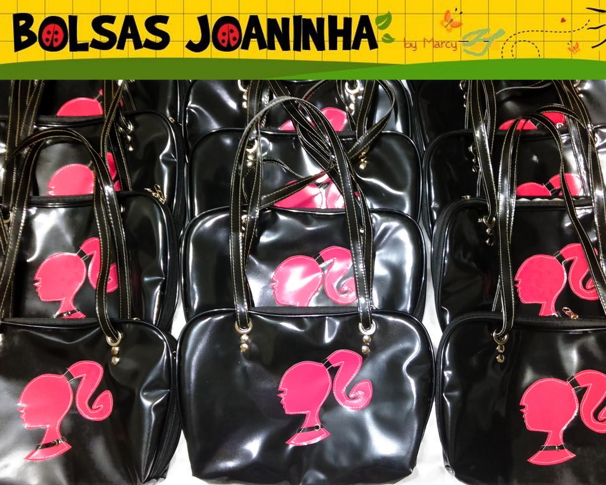 Bolsa De Ombro Barbie : Barbie pink bolsa ombro preta bolsas joaninha elo