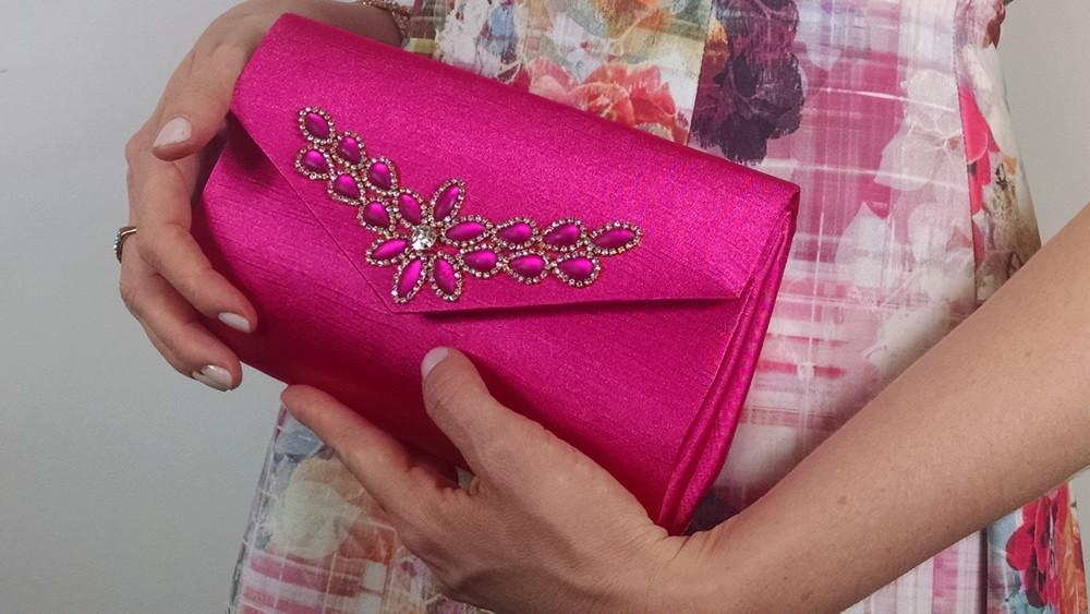 Bolsa De Festa Rose : Bolsa carteira festa glamourosa rosa ateli? lilica