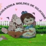 ALESSANDRA MOLDES DE SILICONE P/BISCUIT,RESINA,GESSO,SABONETE ETC