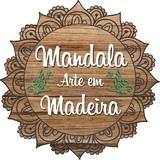 MANDALA ARTE EM MADEIRA