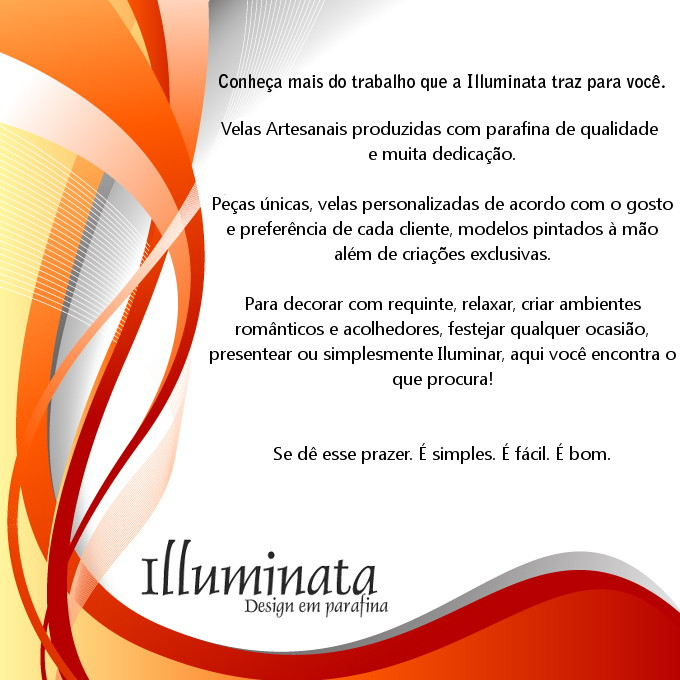 Illuminata Design em Parafina - Velas Art�sticas