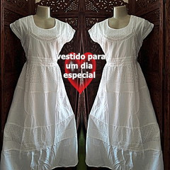 d859f24afab9 vestido longo algodão lese renda grupir festa no Elo7 | Belíssima ...