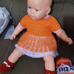 246d4df52 Vestido de crochê com forro 6-9 meses no Elo7 | LáBibika (93B186)