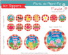 Kit Digital Toppers Picnic Peppa