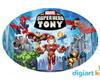 Placa - Painel -Oval - Super Hero - 70cm