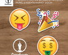 Plaquinha de Emoji/Emoticons do WhatsApp