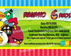 Convite Infantil 10x15 - Angry Birds