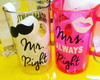 Par de Canecas Mr. and Mrs. Right