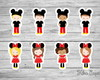 Aplique Fantasia Mickey e Minnie 3,5 cm