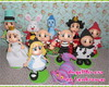 Kit festa Alice com 11 personagens