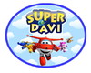 Placa em PVC Super Wings - 50x40