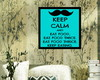 "Quadro 20 x 20 ""Keep Calm and eat"""