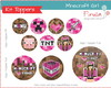 Kit Digital Toppers Minecraft Girl