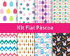 Kit Scrapbook Digital / Flat Páscoa