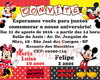 Convite Digital Duplo Minnie eMickey