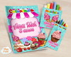 Kit colorir giz massinha Confeitaria doc