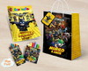 Kit colorir giz massa sacola Lego Batman