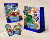 Kit colorir giz massa sacola Lego super