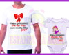 Kit Camiseta + Body Personalizados dia