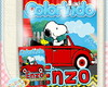 Kit de colorir Snoopy no Fusca