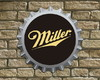 "Placa Decorativa Tampinha ""Miller"""
