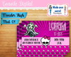 Convite Digital Monster High 01