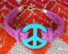 Peace in turquoise and Pink