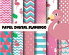 Papel digital Flamingo