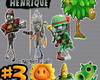 Plants vs Zombies Warfare Topper de Bolo