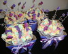 Bouquet de marshmallows lilás e pink