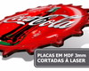 Kit 5 Placas Decorativas Grandes Areá Churrasco Lazer T020