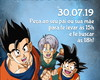 Arte Convite Dragon Ball Z
