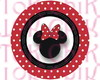 Topper tema da festa Minnie